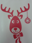 "3 x Rudolph the Reindeer red stickers Christmas window decoration 12"" - 30 cm"